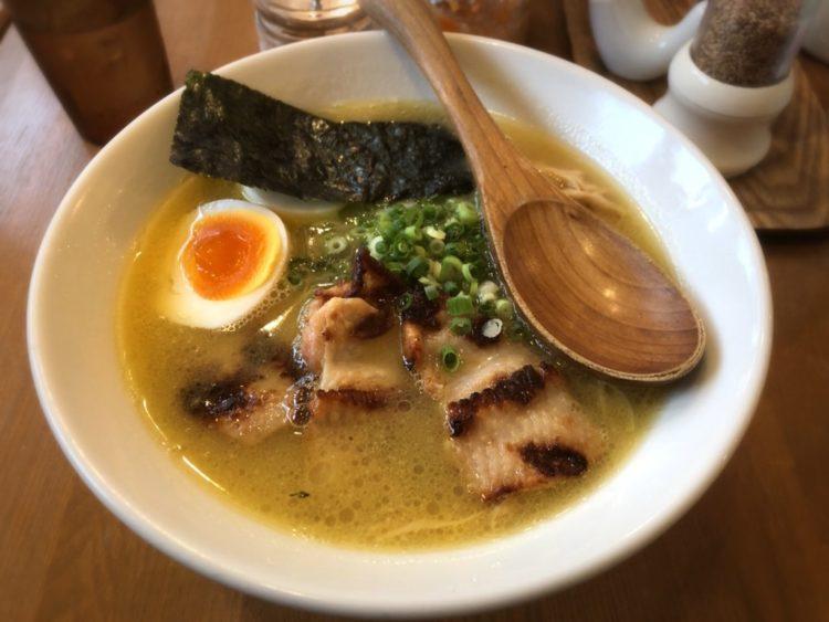 とろ〜り濃厚ポタージュを細麺に絡めて  鶏ポタラーメン THANK@御茶ノ水
